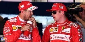 In piedi, passa Raikkonen, l'ultimo anello con la Ferrari dell'epoca d'oro!