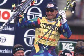 18 Marzo 1995, Tomba vince la Coppa del Mondo