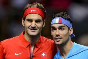 Federer batte Fognini e vola ai quarti del Masters 1000 di Parigi Bercy