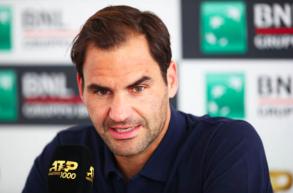 """IBI19, Federer: """"Felice di essere a Roma, sul rosso mi diverto. Sinner un buon giocatore"""""""