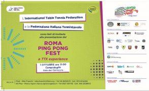 """""""Roma Ping Pong Fest"""" : il TTX arriva in Italia e in Europa"""