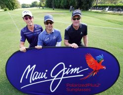 Jorge Campillo, Robert Karlsson e Renato Paratore, Brand Ambassador Maui Jim,  si sono sfidati al 76° Open d'Italia