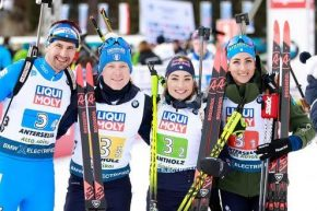 Mondiali biathlon, è argento in staffetta per l'Italia