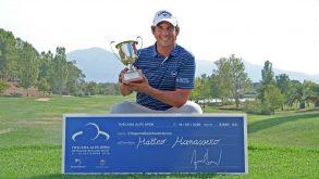 Golf, Matteo Manassero torna al successo al Toscana Alps Open