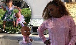 Serena saluta la top 10, ma la bambola della figlia vola…